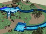 3d rendering of a surf pool for MADEA