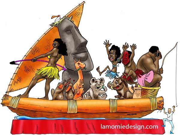 Nice Carnival 2013. Populating Polynesia.
