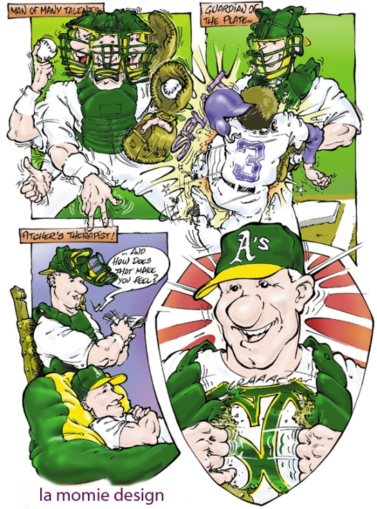 ILLUSTRATION FOR THE OAKLAND A's